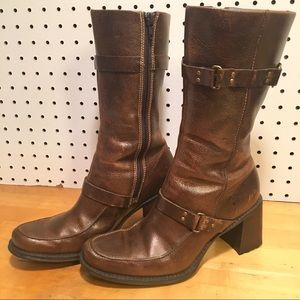 Indigo by Clark's Brown Leather Boots 6 1/2